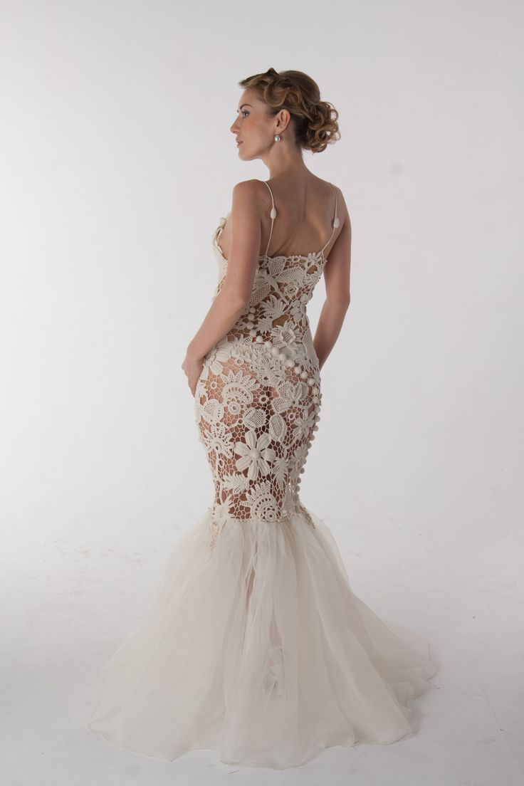 sexy long irish crochet dress. My hubby loves this. I wonder why....