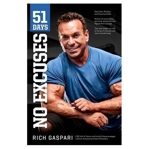 Buy Rich Gaspari's book – 51 Days No Excuses 10.99USD Gaspari Nutrition #ExceedYourself #Prozis #bodybuilding #book