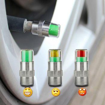 4PCS Car Styling 2.2bar 32PSI Car Tyre Tire Pressure Valve Stem Caps Sensor Eye Air Alert Tire Pressure Monitoring Tools Kit  Price: 3.27 USD