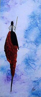 Alone in Blue by Moses Wanyuki, 2007