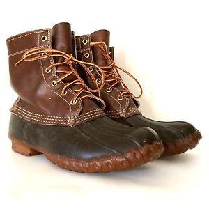 Vintage ll Bean Duck Boots Maine Hunting Freeport Leather Rain Boot Mens Sz 8 M | eBay