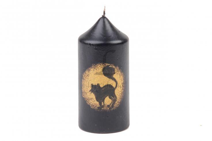 """Свеча на Хэллоуин """"Black cat"""" черная - Оптовый интернет магазин товаров для бизнеса украшения для волос и различные аксессуары laprida.ua #свечи #декоративныесвечи #хэллоуин   #halloween #happyhalloween #candle"""