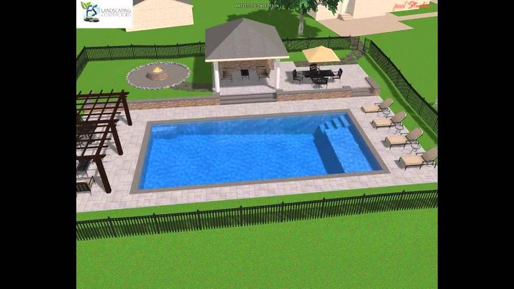 Rectangle Pool Design | pool | Pinterest | Rectangle pool, Pool ...