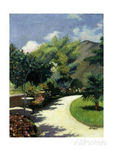 Girl in a Garden, Le Pradet ジクレープリント