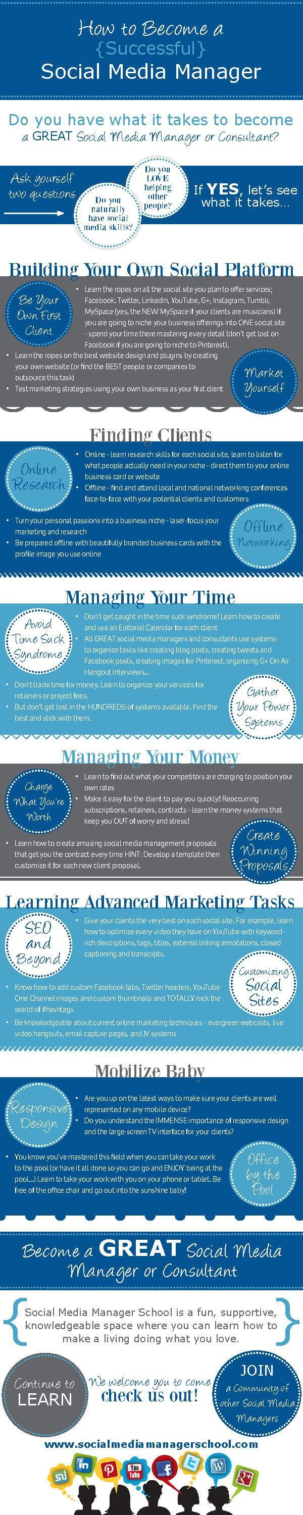 How To Become A Successful Social Media Manager [infographic]