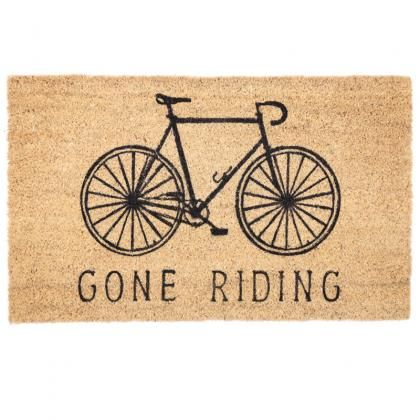 Rohožka z kokosového vlákna s motivem kola #rohozka #kolo #doormat #homedecor #cycle #giftware