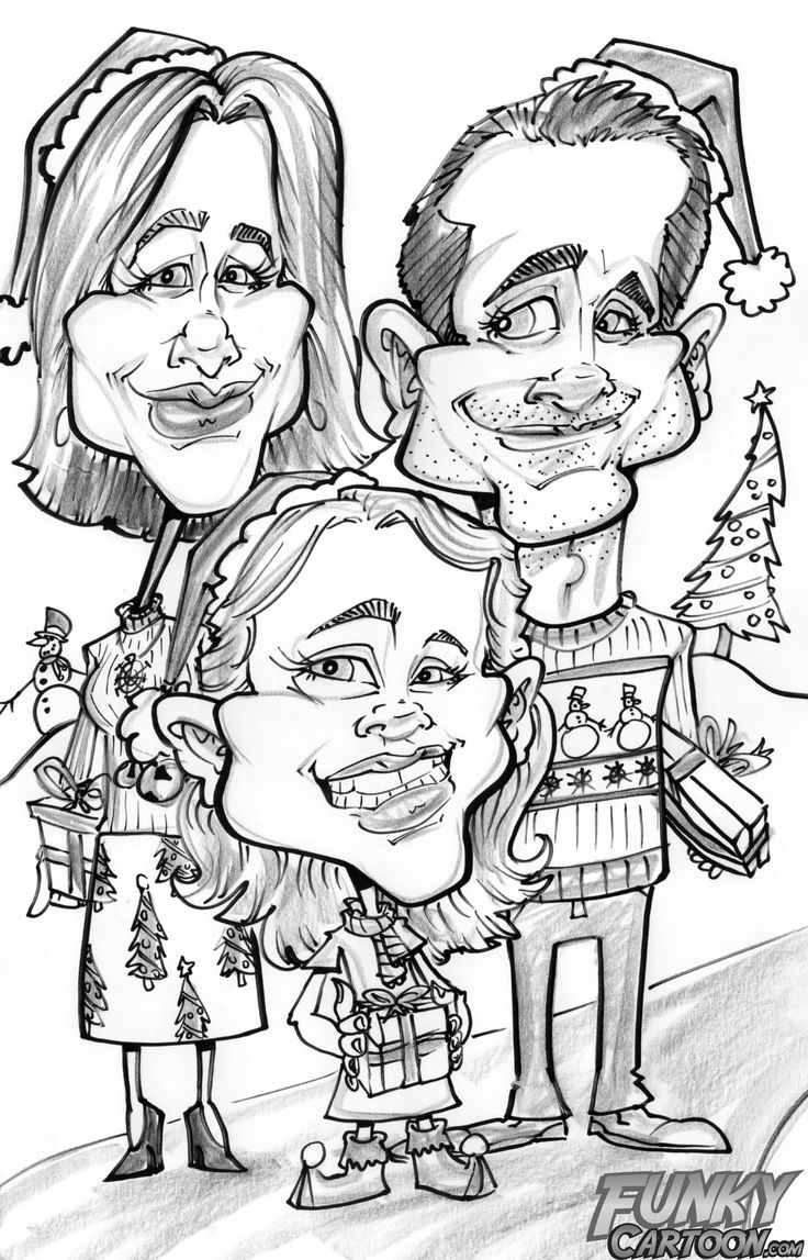 Express Yourself this Christmas with a Caricature from FunkyCartoon.com : Ottawa Mommy Club – Moms and Kids Online Magazine | by Tracy Noble