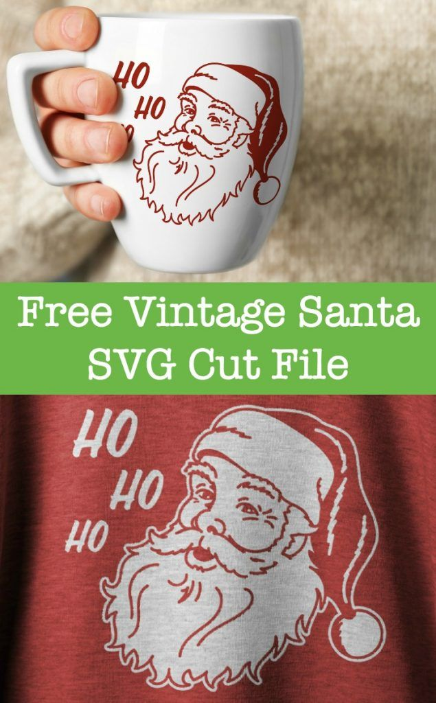 Free Christmas Vintage Santa SVG Cut File for Silhouette Cameo, Curio, Mint or Cricut - by cuttingforbusiness.com