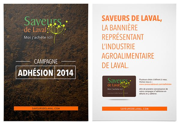 Printed campaign for Saveurs de Laval