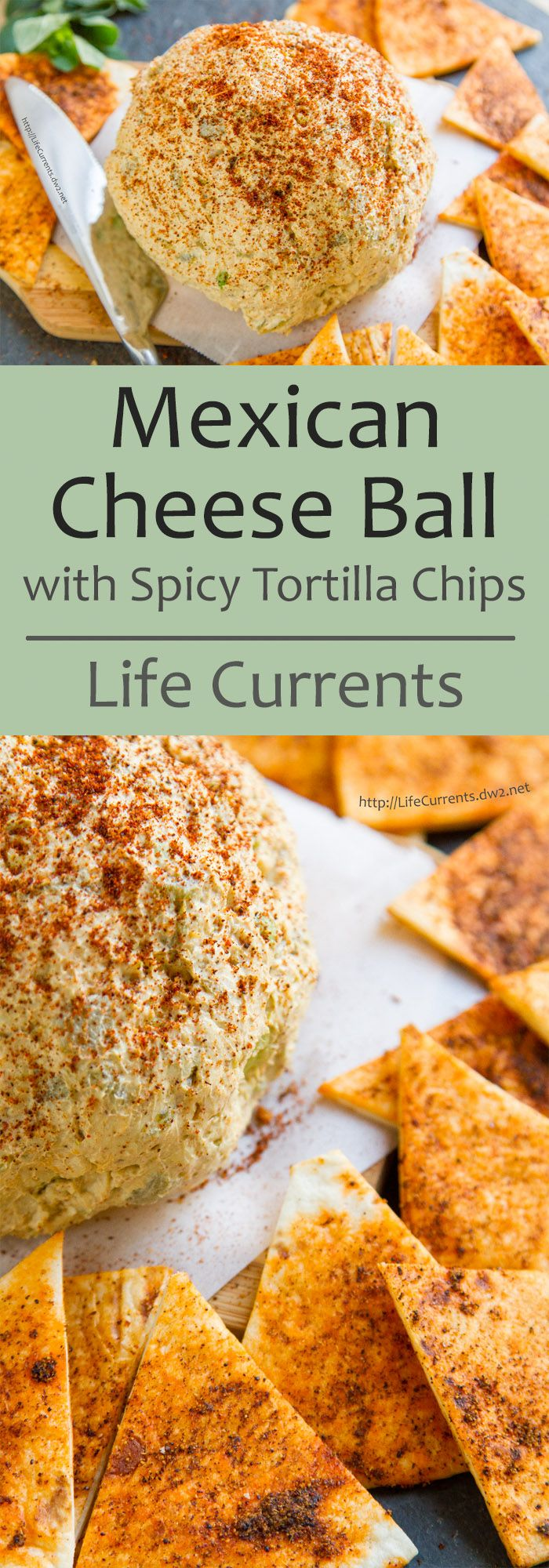 Mexican Cheese Ball with Spicy Tortilla Chips -- a fun and easy make-ahead appetizer that will leave everyone wanting the recipe!