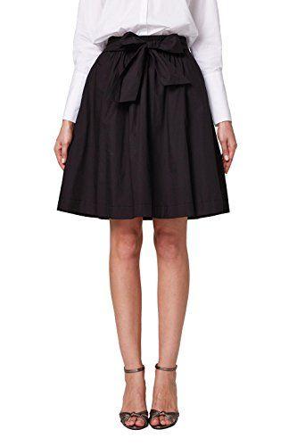 19a822f432 Esprit 028ee1d006 Falda para Mujer Negro (Black 001) 42