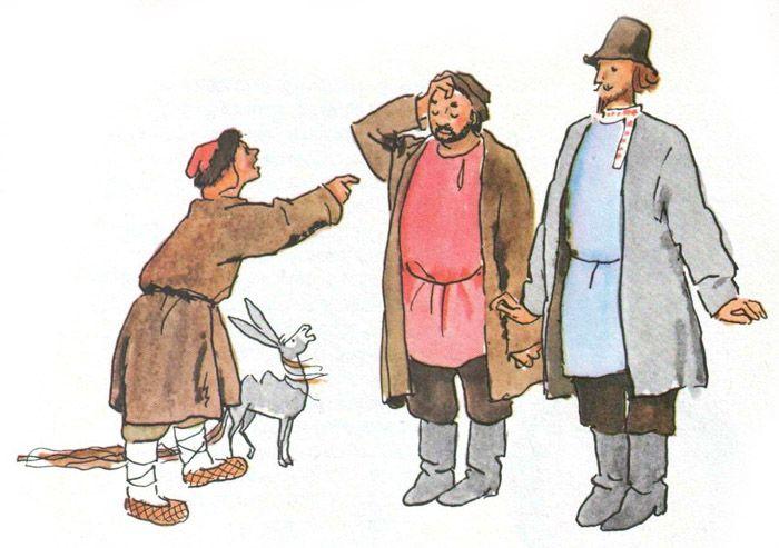 рисунок братьев из конька горбунка одновременно защита
