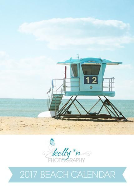 2017 Photo Desk Calendar - Beach Photography. 12 page, loose leaf desk calendar. Bring the beach to your desk!