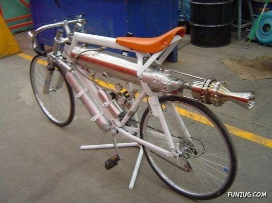 jet propelled bike! genius