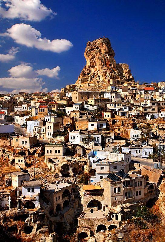 Ortahisar Rock Castle, Cappadocia, Turkey (West Asia) | Most Beautiful Pages