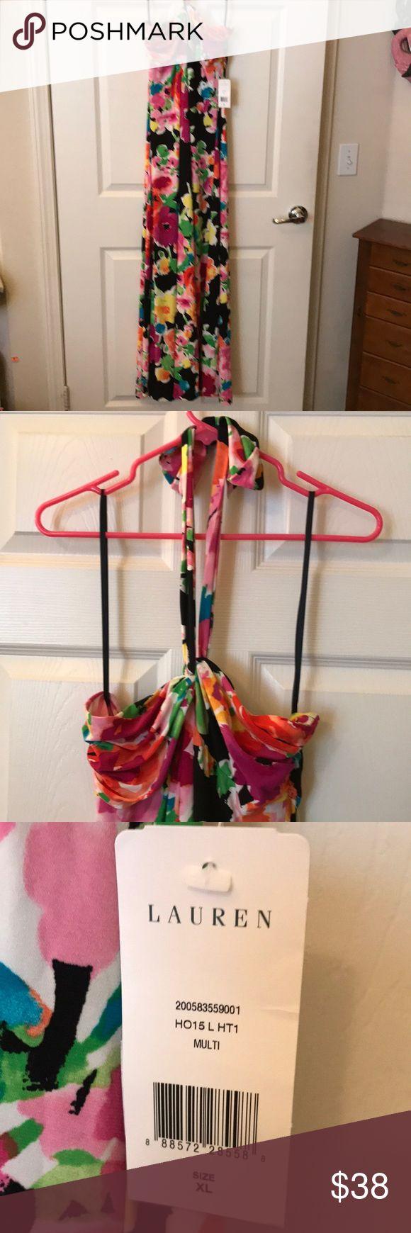 Lauren Ralph Lauren maxi dress Brand new without tags Lauren Ralph Lauren size x-large gorgeous colorful halter maxi dress. Sold out. Lauren Ralph Lauren Dresses Maxi