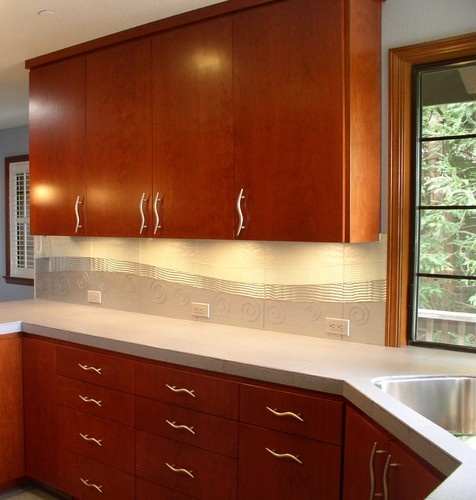 glass tile custom backsplash contemporary kitchen san francisco marin designworks glass tile - Kitchen Backsplash Glass Tile Design Ideas