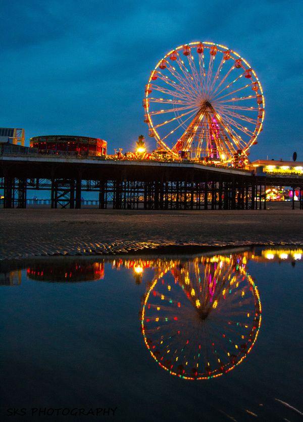 Blackpool lights at night . by Stephen Shaw, via Behance