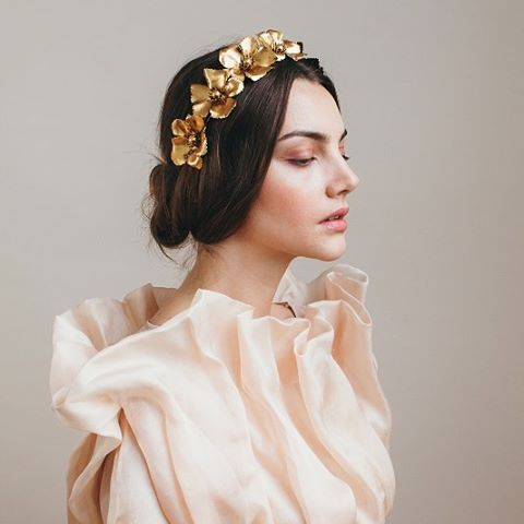 your golden crown  the headpiece of the season #chloecirclet  available on jenniferbehr.com (link in profile) and @netaporter