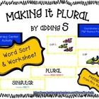 Another great little freebie for use in Literacy Centers or as independent work! This activity coordinates with Fountas & Pinnell Phonics program. Students see a variety of words where /s/ is used to create a plural word. This activity reinforces concept for reading and writing.