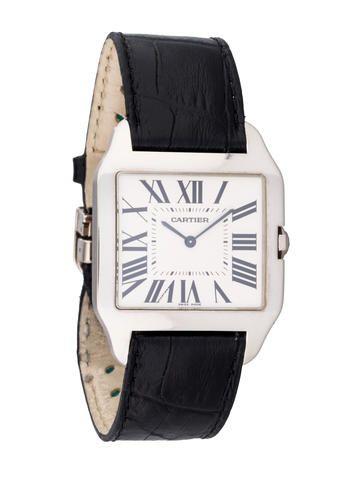 Cartier Santos Dumont 18K White Gold Watch