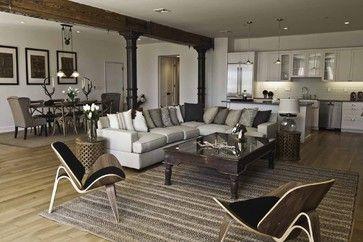 Spice Warehouse Tribeca Loft Living Room - industrial - Living Room - New York - Marie Burgos Design