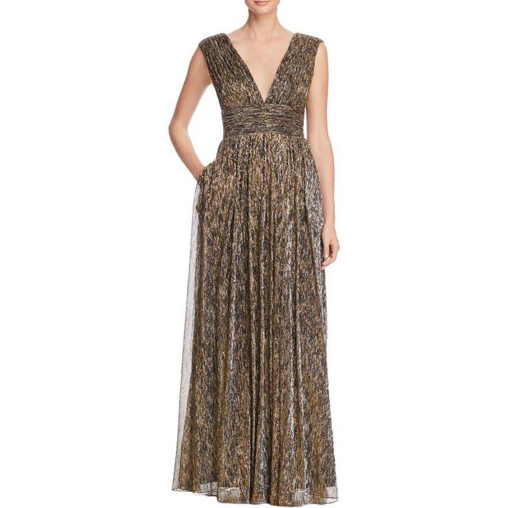 Awesome Amazing Aidan by Aidan Mattox 8855 Womens Bronze Metallic Formal Dress Gown 10 BHFO 2017 2018