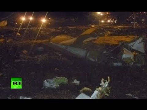 First footage: Boeing 737 crashes at airport of Russia's Kazan