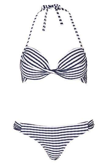 stripe bikini / topshop
