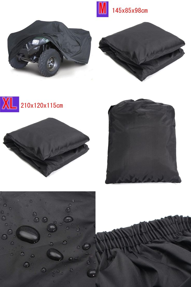 [Visit to Buy] Black Universal M/XL 190T Waterproof Quad ATV Cover Vehicle Scooter Motorbike Cover #Advertisement