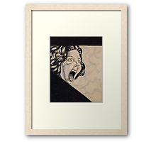 """""""1950's Horror"""" by I Love the Quirky - Framed Print. Available in a variety of frame styles and colours"""