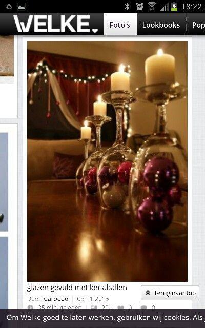 kerst decoratie op tafel