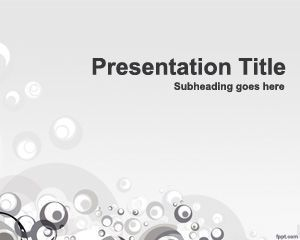 Free Design PowerPoint template, bubbles design with nice effects and gray style for cool powerpoint presentations #powerpointdesigner #freeppttemplates