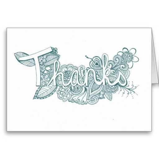 45 best hand drawn personalized greeting cards images on pinterest turquoise mehndi art thank you card m4hsunfo Choice Image