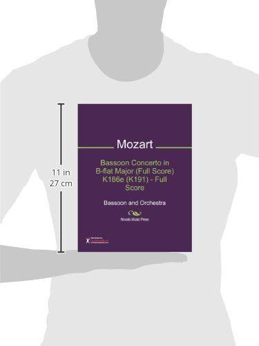 Bassoon Concerto in B-flat Major (Full Score) K186e (K191) - Full Score Sheet Music (Bassoon and Orc