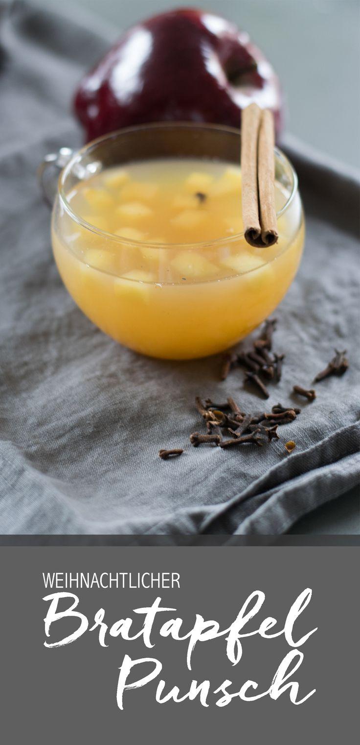 Lust auf einen leckeren Bratapfel-Punsch - mit oder ohne Schuss? Mit Vanille, Nelken und Zimt - mit Schnaps oder mit Sahne? Das perfekte Gegenstück zu einem Glühwein und dabei noch viel leckerer. Bratapfel Geschmack in einem Punsch!