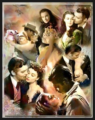 "Scarlett and Rhett  ""Gone With the Wind"" my all time favorite movie since I was a kid!"
