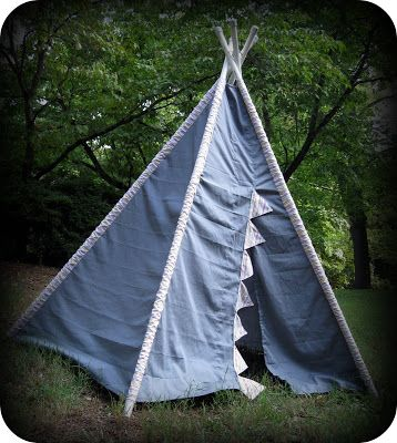 the mud pie makers: Make Your Own Play Teepee!