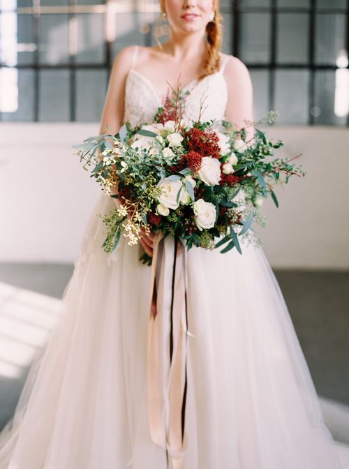 Rust, Ivory and Green Wedding Bouquet || Bouquet by Fleurish Flower Shop | Photo by Milton Photography