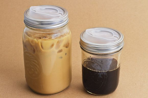 Cuppow >> mason jar + BPA-free, recyclable lid = hipster's travel cup. Love it!
