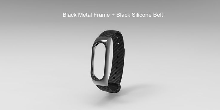Correia de Substituição de Pulseira Fibra de Carbono Metálico para Xiaomi Miband 2