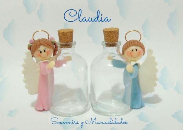 Para bautismo o comunión: botellitas para agua bendita .- by amalia