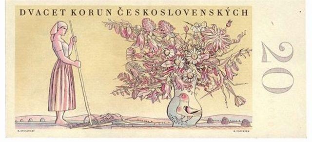 1949 banknote - 20 Czecho-Slovakian crowns