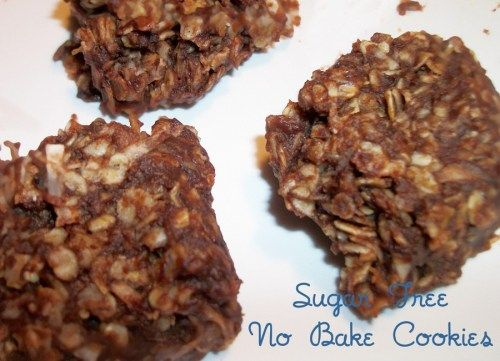 Sugar Free Chocolate Oatmeal No Bake Cookies