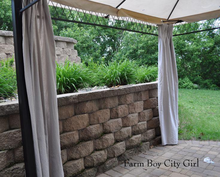 Gazebo Curtains – No Sewing | Farm Boy City Girl