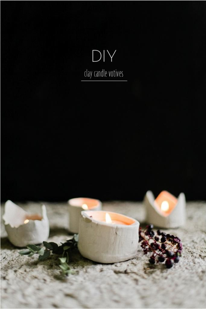 Diy candle clay votives i 39 m feelin 39 crafty pinterest for Homemade votive candles