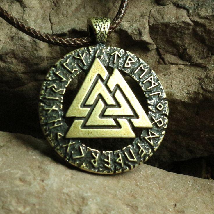 1ピースslavicノルウェーvalknut異教お守りペンダント男性ネックレススカンジナビアバイキングジュエリーオーディンのシンボルの北欧バイキング戦士
