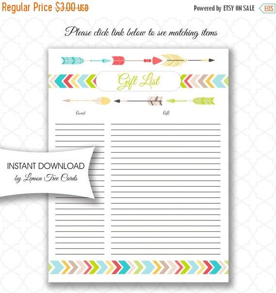 13 best Sarahs baby shower images on Pinterest Tribal baby - free printable baby shower guest list