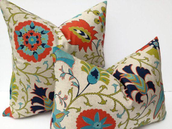 Suzani 20X20 Pillow Cover Designer Home Decor Fabric Throw Pillow Accent  Pillow Designer