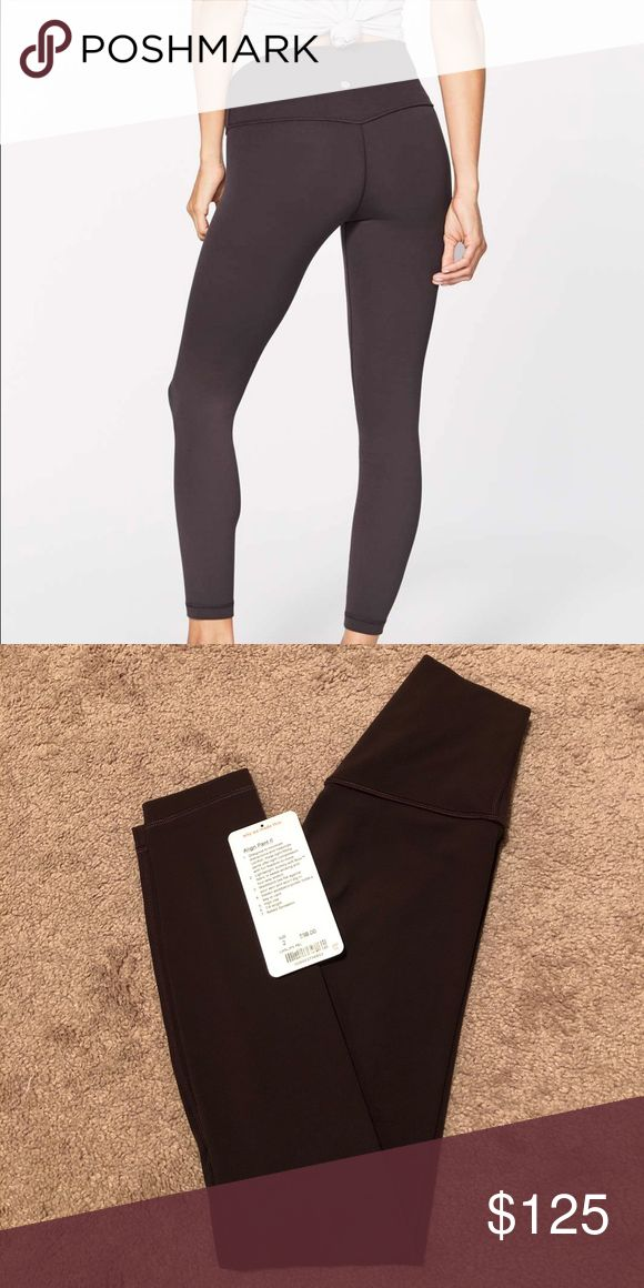 Lululemon Align Pant (2) Pelt Size 2, like new 7/8 length Pelt - no longer made Refer to stock photo for accurate color representation Selling because I prefer black over brown Can include lulu bag upon REQUEST Price is firm lululemon athletica Pants Leggings